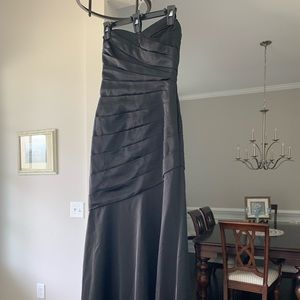 David's bridal long strapless sweetheart neck gown
